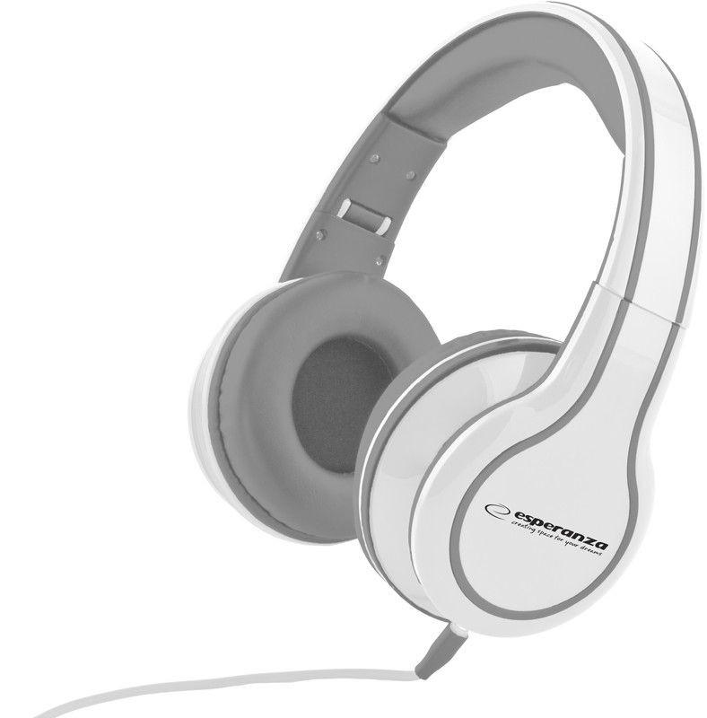 Esperanza Słuchawki Audio Stereo z Regulacją Głośności EH136W | 3m