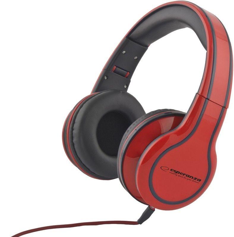 Esperanza Słuchawki Audio Stereo z Regulacją Głośności EH136R | 3m