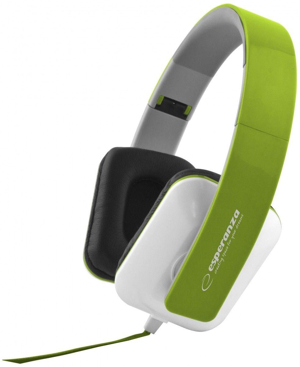 Esperanza Słuchawki Audio Stereo z Regulacją Głośności EH137G | 3m