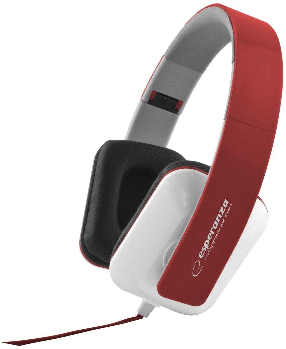 Esperanza Słuchawki Audio Stereo z Regulacją Głośności EH137R | 3m