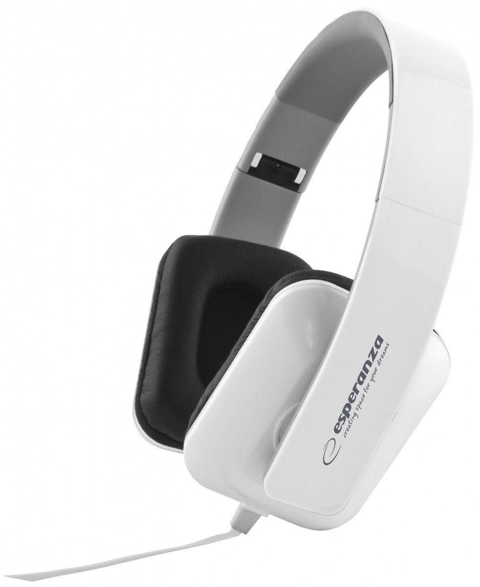 Esperanza Słuchawki Audio Stereo z Regulacją Głośności EH137W | 3m