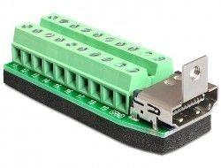 DeLOCK Adapter Terminal Block (20-pin) -> HDMI