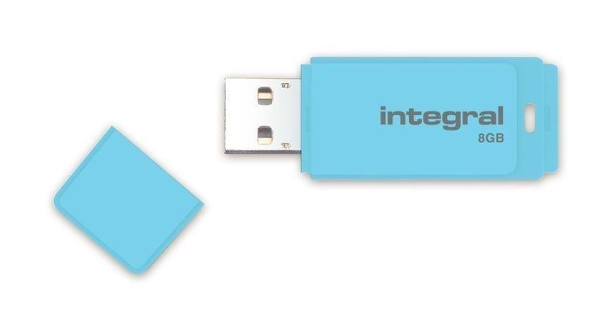 Integral pamięć USB Pastel 8GB, USB 3.0, Blue Sky