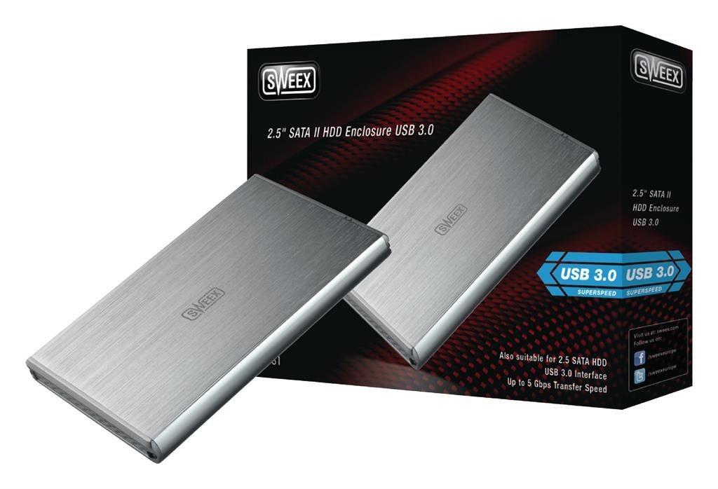 Sweex Obudowa na dysk 2,5''; SATA ; USB 3.0