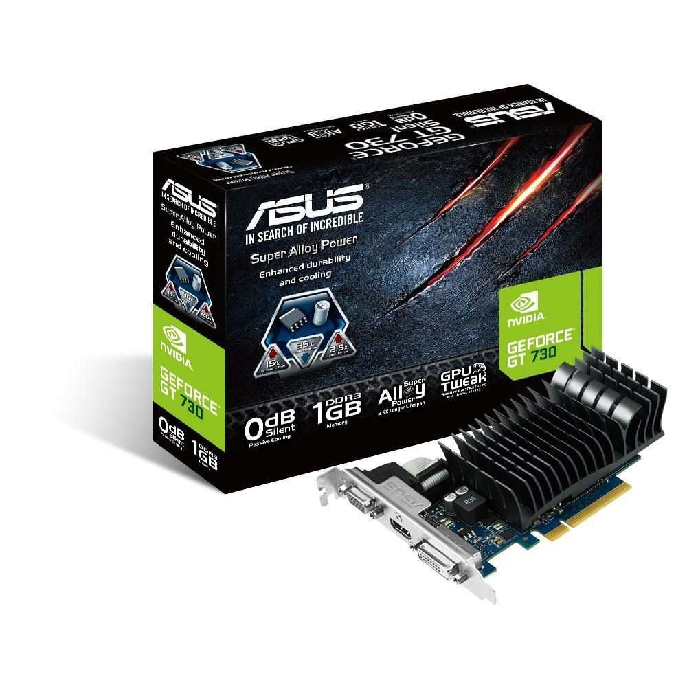 Asus GeForce GT 730, 1GB GDDR3 (64 Bit), HDMI, DVI, VGA