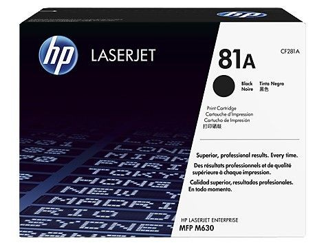 HP Toner HP 81A Black | MFP M630