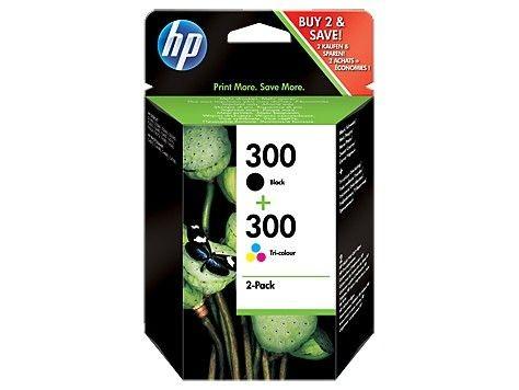 HP Combo Pack Tusz 300 Czarny + Kolorowy CN637EE