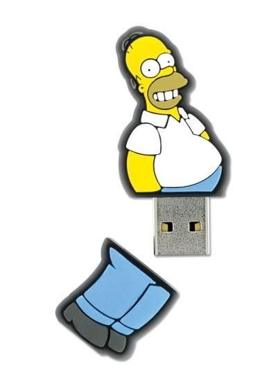 Integral pamięć USB The Simpsons, Homer, 8GB, rubberised silicone