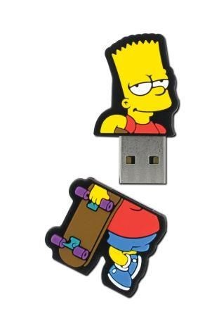Integral pamięć USB The Simpsons, Bart, 8GB, rubberised silicone