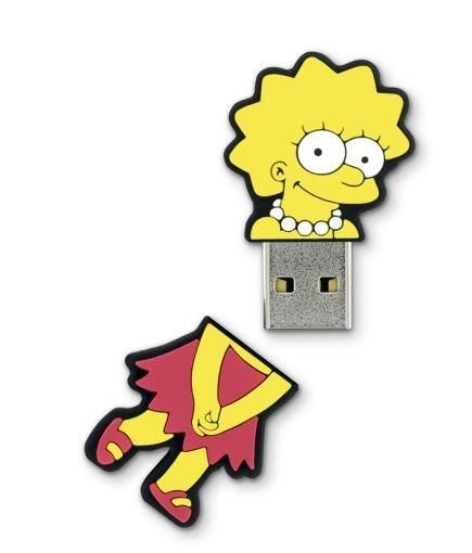 Integral pamięć USB The Simpsons, Lisa, 8GB, rubberised silicone