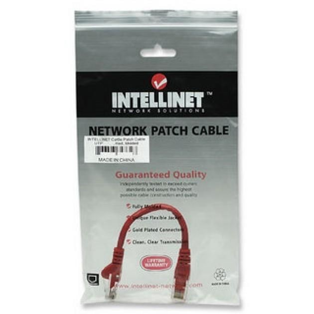 Intellinet Network Solutions patch cord RJ45, kat. 6 UTP, 0.5m czerwony, 100% miedź