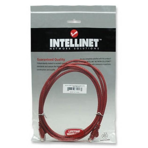 Intellinet Network Solutions patch cord RJ45, kat. 6 UTP, 1m czerwony, 100% miedź
