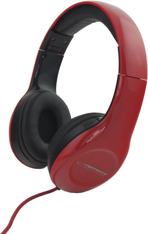 Esperanza Słuchawki Audio Stereo z Regulacją Głośności EH138R | 3m