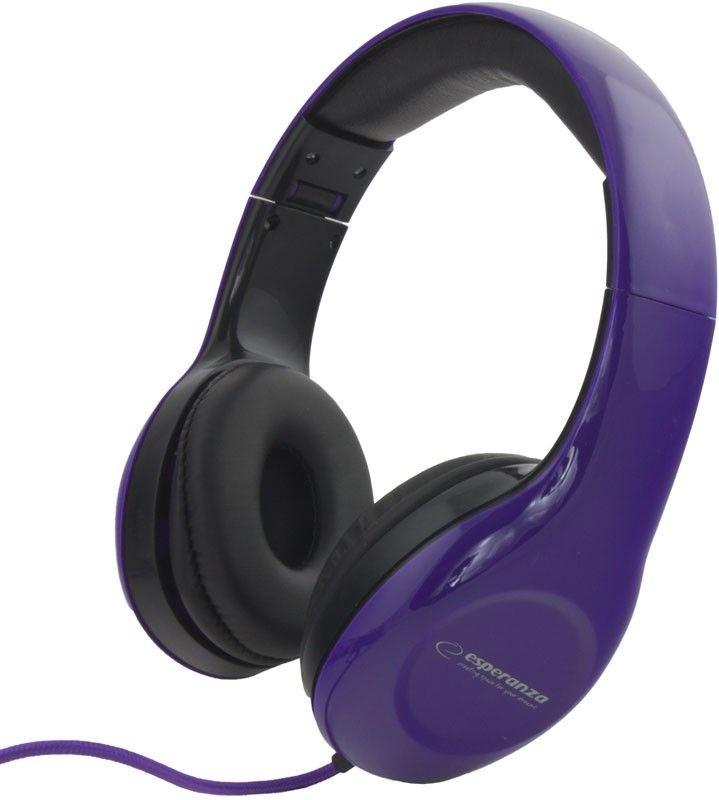 Esperanza Słuchawki Audio Stereo z Regulacją Głośności EH138V | 3m