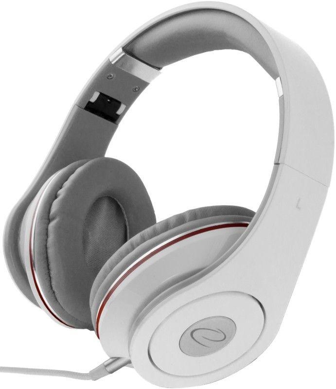 Esperanza Słuchawki Składane Audio Stereo z Regul Głośn EH141W RENELL |5m|Białe