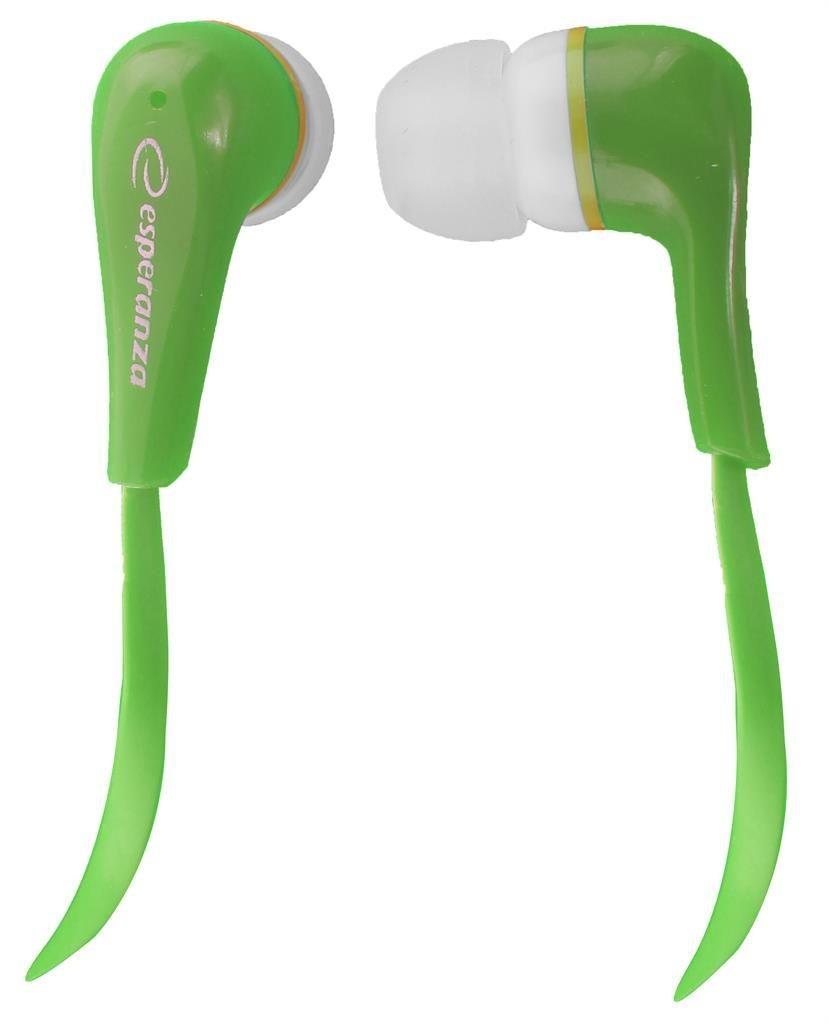 Esperanza Słuchawki Douszne Audio Stereo LOLLIPOP EH146G Zielone