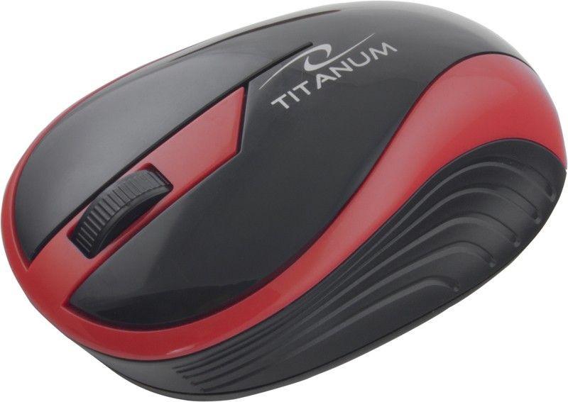 Esperanza TITANUM Bezprzewodowa Myszka Optyczna 3D TM113R | 2.4 GHz | 1000 DPI | Czerwona