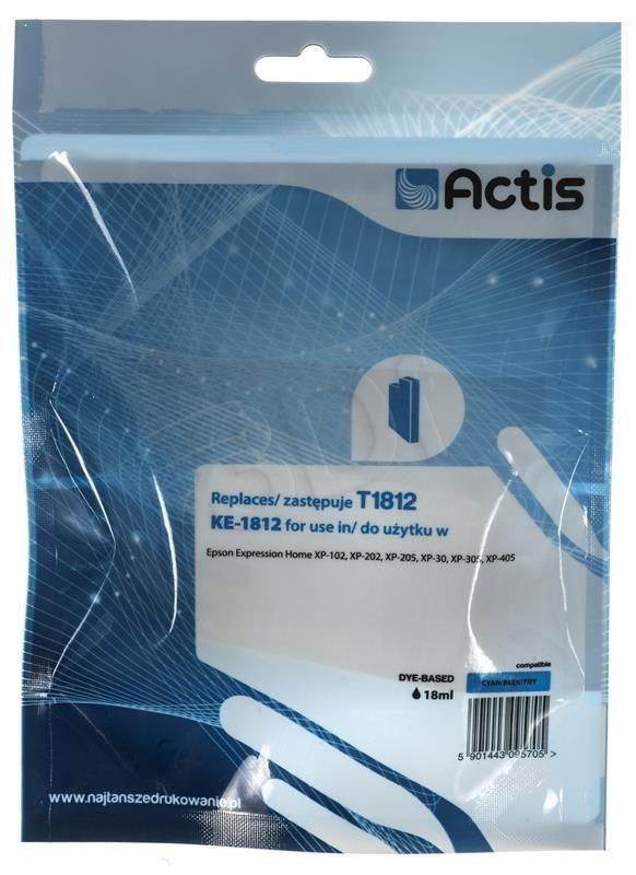 Actis Tusz Actis KE-1812 (do drukarki Epson zamiennik T1812 standard 15ml cyan)
