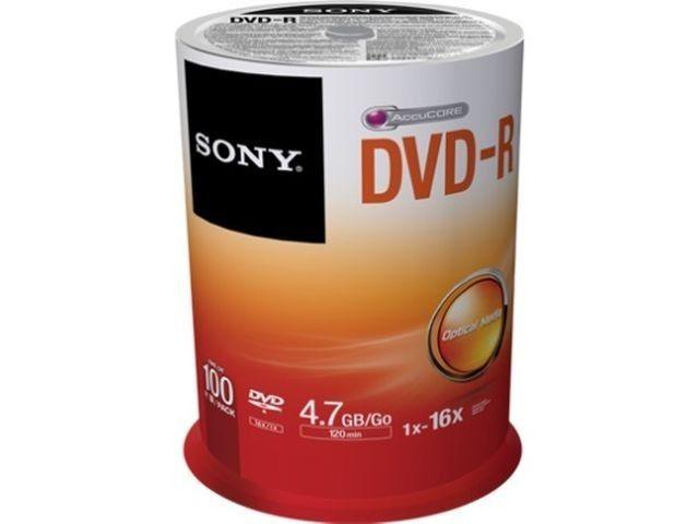 Sony DVD-R 4,7 GB | 16x [cake 100 szt.]