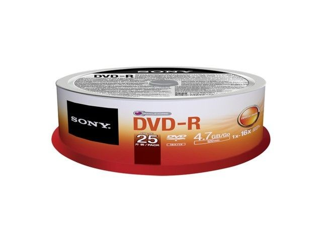 Sony DVD-R 4,7 GB | 16x [cake 25 szt.]