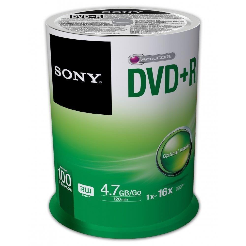 Sony DVD+R 4,7 GB | 16x [cake 100 szt.]