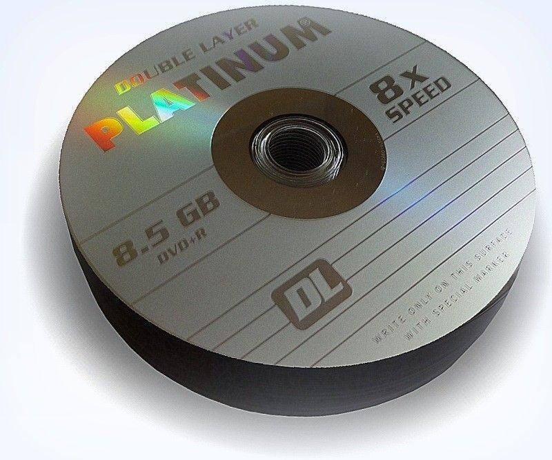 Platinum DVD+R PLATINUM 8,5GB 8x DOUBLE LAYER SZP 25szt