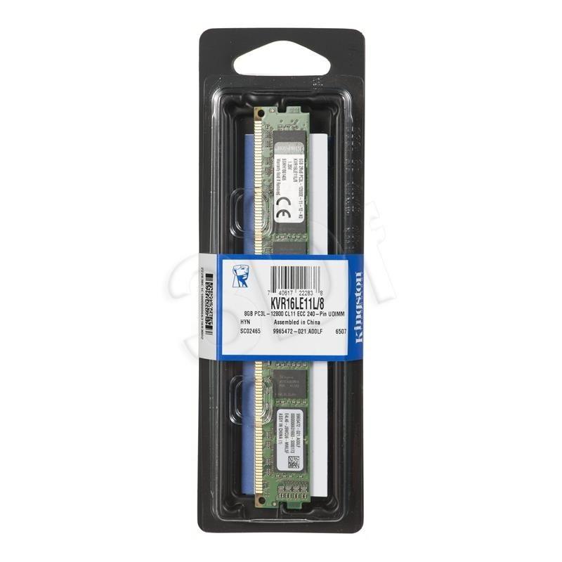 Kingston 8GB DDR3 ECC 1600MHz KVR16LE11L/8 LV