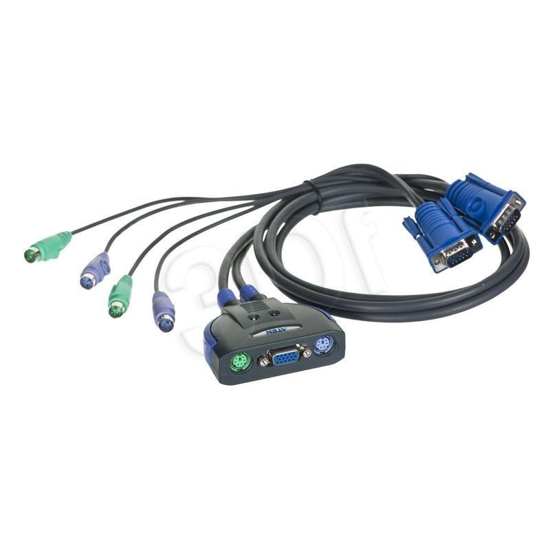 Aten przełącznik KVM CS62Z 2-portowy