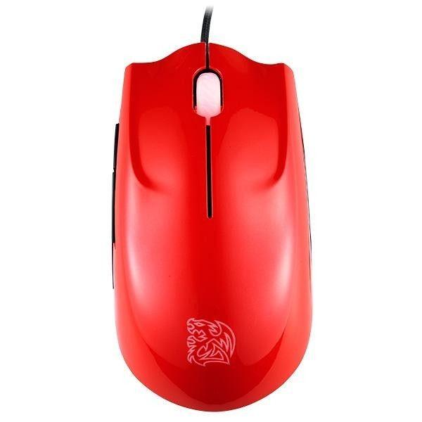 Thermaltake Tt eSPORTS Myszka dla graczy - Saphira Red 3500DPI Laser Rubber coating