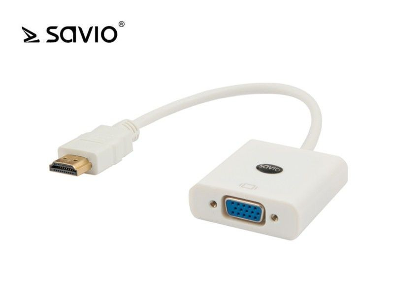 Elmak SAVIO CL-27 Adapter HDMI AM -VGA 15 pin