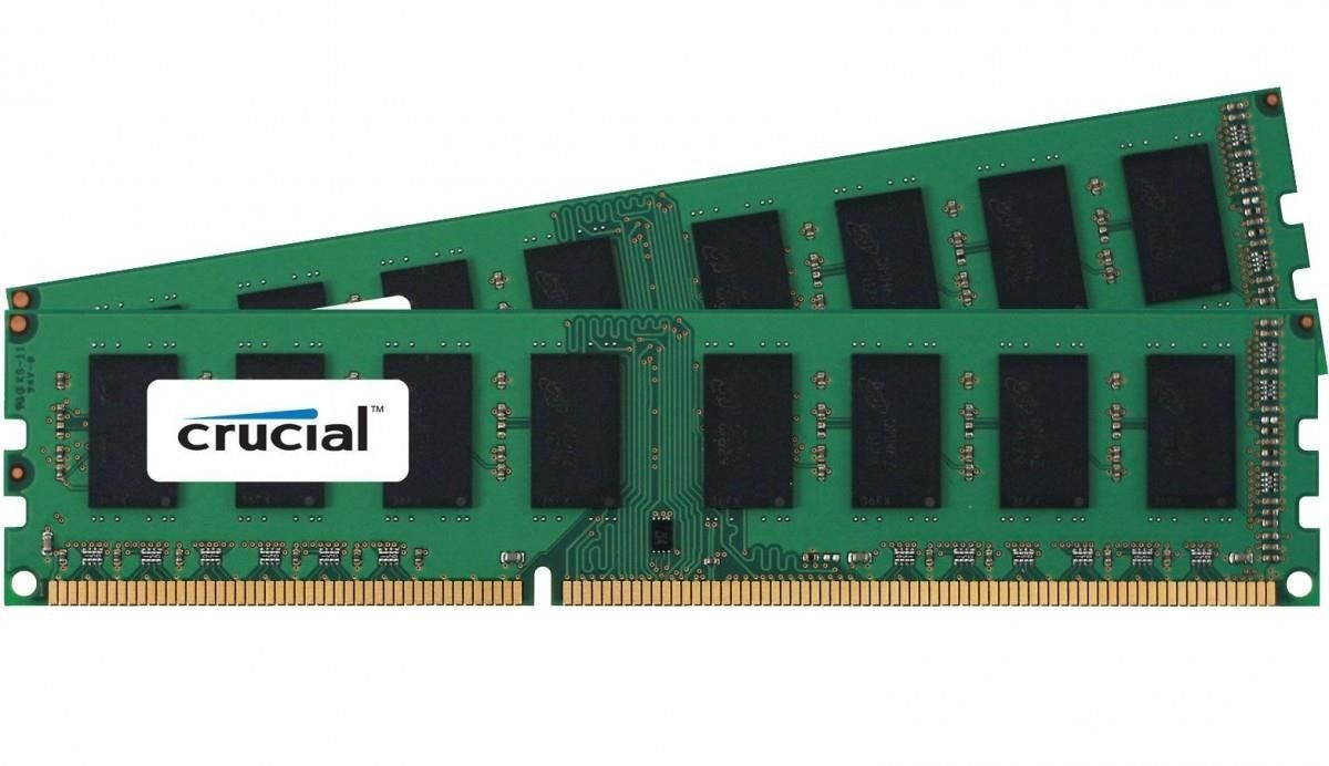 Crucial 2x4GB 2133MHz DDR4 CL15 Single Ranked UDIMM 1.2V