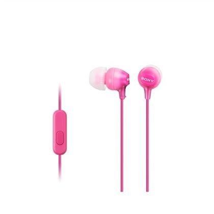 Sony Słuchawki Sony douszne MP3/smartfon z mikrofonem MDR-EX15APP (różowe)