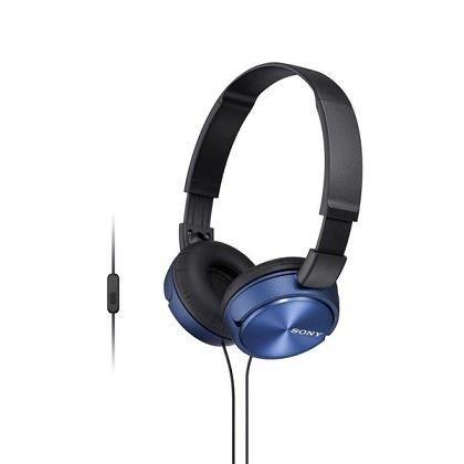 Sony Słuchawki z mikrofonem Sony MDR-ZX310AP niebieskie