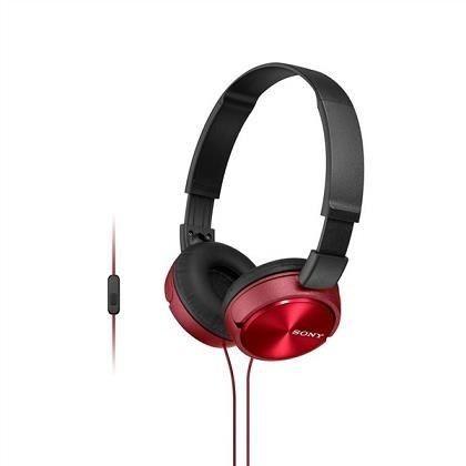 Sony SONY stereo sluchátka MDR-ZX310AP, červená