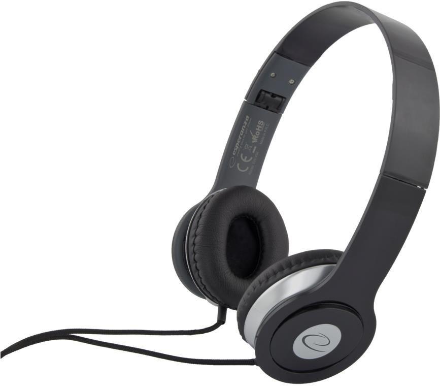 Esperanza Słuchawki Esperanza EH145K Techno czarne