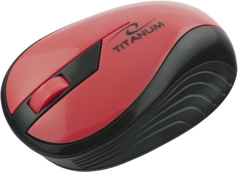 Esperanza Mysz bezprzewodowa RAINBOW TM114R optyczna czerwona