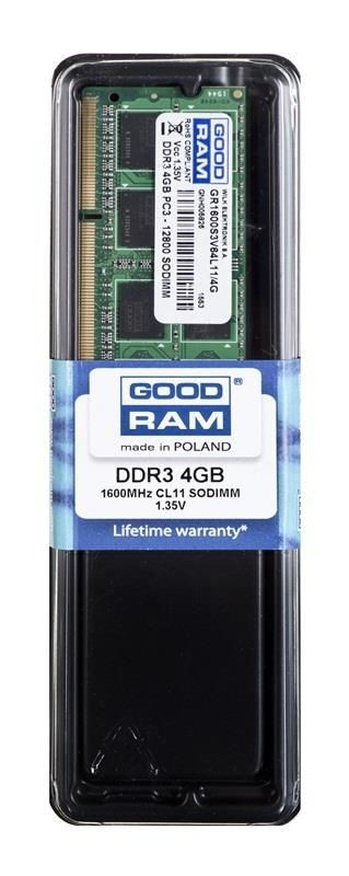 GoodRam SODIMM DDR3 4GB/1600 CL11 1,35V LV 256*8