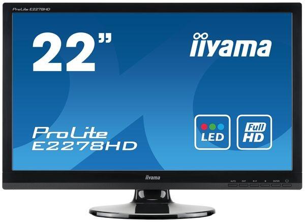 iiyama MONITOR 21'5 E2278HD DVI/D-sub / IIYAMA