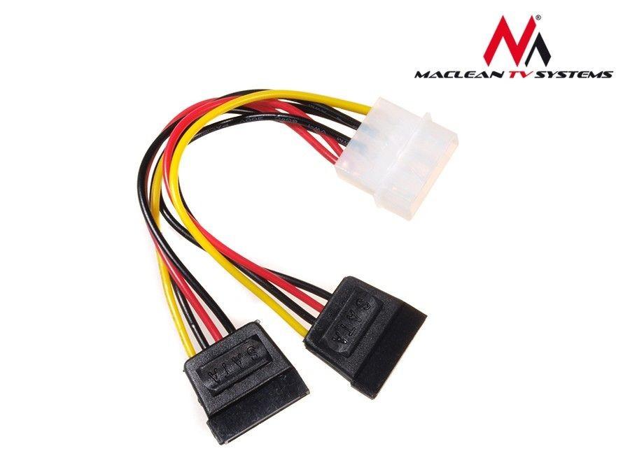 Maclean MCTV-632 Kabel adapter zasilania Molex 2xSATA 15cm