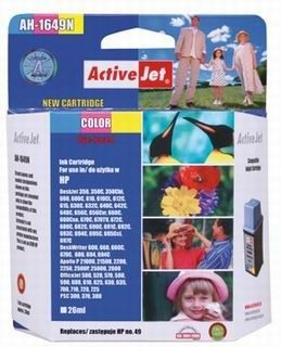 ActiveJet Tusz ActiveJet AH-49N   Color   26 ml   HP 51649A HP 49