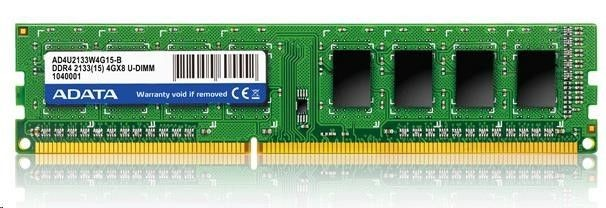 A-Data 4 GB, DDR4, 288-pin DIMM, 2133 MHz, Memory voltage 1.2 V