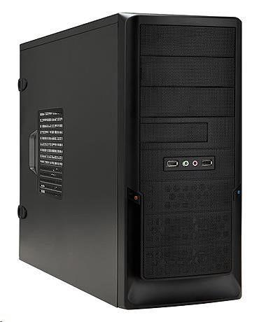 In Win IN WIN skříň EA040, Midi Tower, USB3.0/ Audio /toolfree, Black, bez zdroje