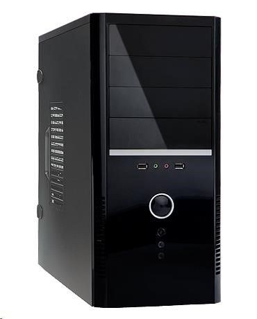 In Win IN WIN skříň EA037, Midi Tower, with 400W12cm-FULL SAFETY PSU/USB2.0/Audio / toolfree, Black