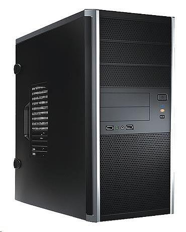 In Win IN WIN skříň EA035, Midi Tower, /USB 3.0/ Audio / toolfree, bez zdroje, Black