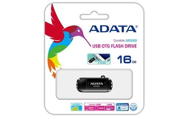 A-Data Adata pamięć USB OTG USB UD320 16GB USB 2.0, USB + micro USB, RETAIL