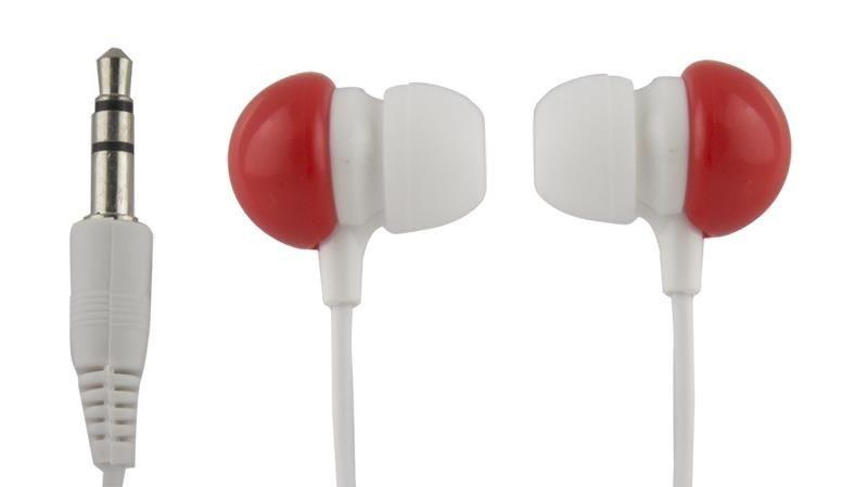 Esperanza Słuchawki Douszne Audio Stereo BUBBLE GUM EH151R Czerwone