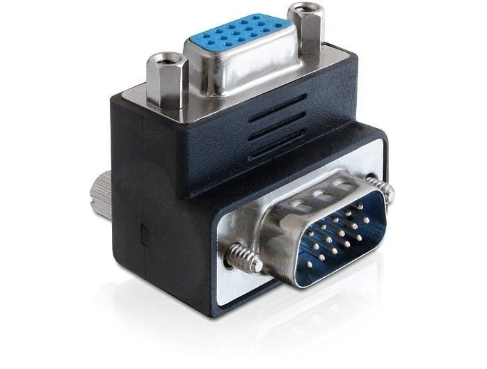 DeLOCK adapter VGA(F)-> VGA(M) kątowy 270°