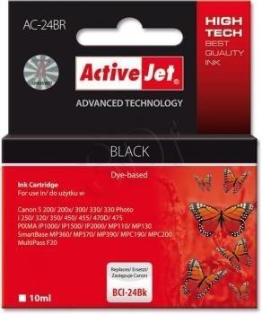 ActiveJet Tusz ActiveJet AC-24BR | Czarny | 10 ml | Canon BCI-24BK