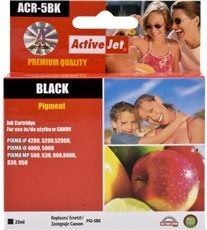 ActiveJet Tusz ActiveJet ACR-5BK | Black | 25 ml | Chip | Regenerowany | Canon PGI-5BK
