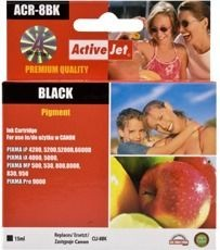 ActiveJet Tusz ActiveJet ACR-8BK | Black | 15 ml | Chip | Regenerowany | Canon CLI-8BK